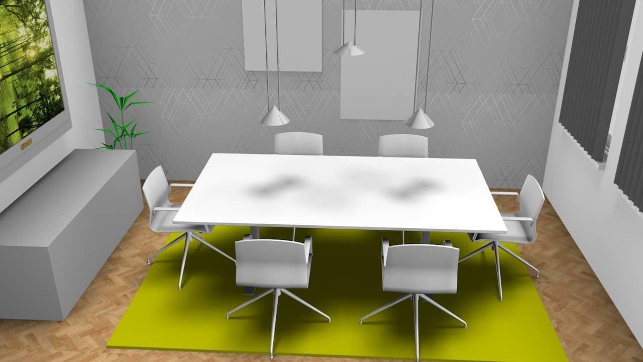 Besprechungsraum mit cleveren Bürokonzept