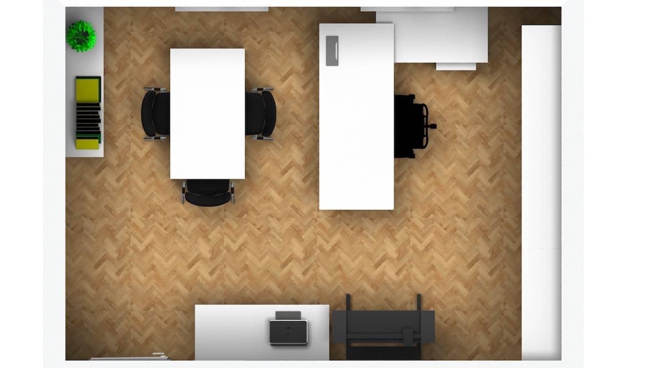 Büro mit Konzept