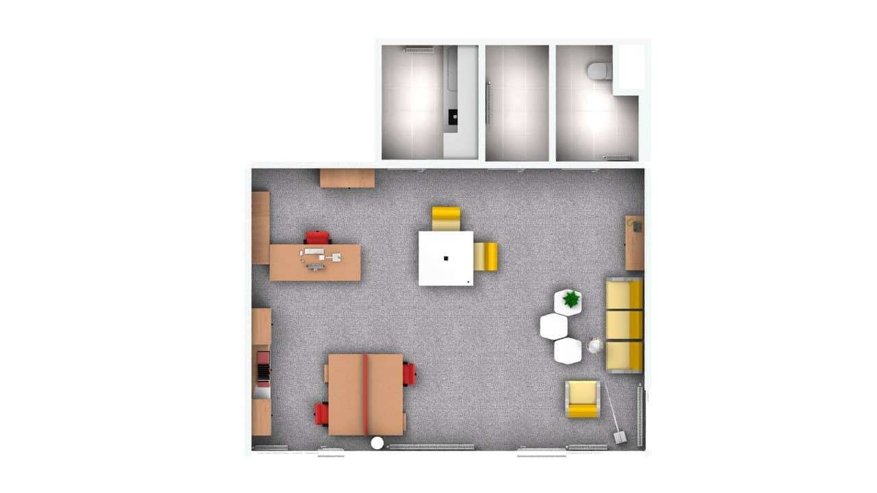 Grundriss eines Büros