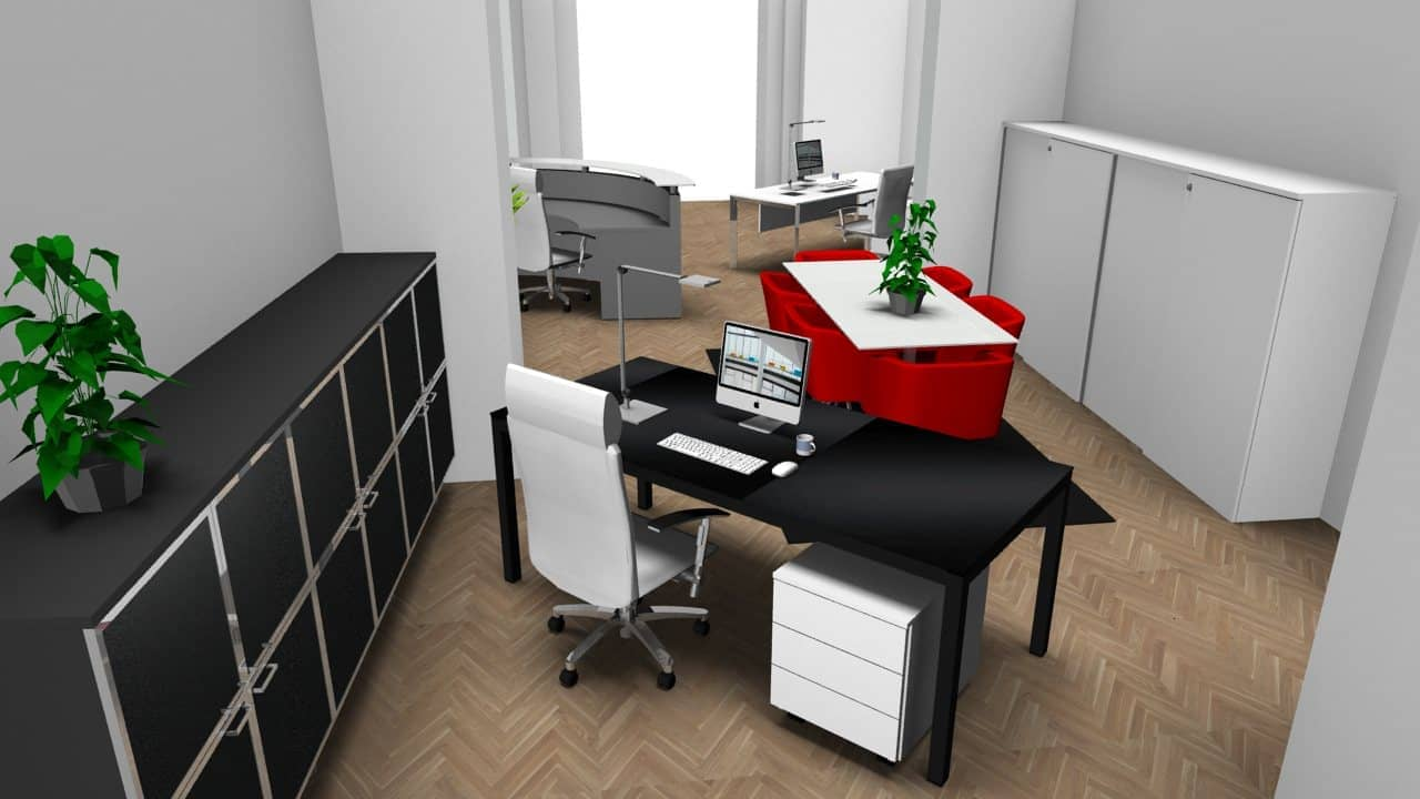 Bürokonzept für ein Büro