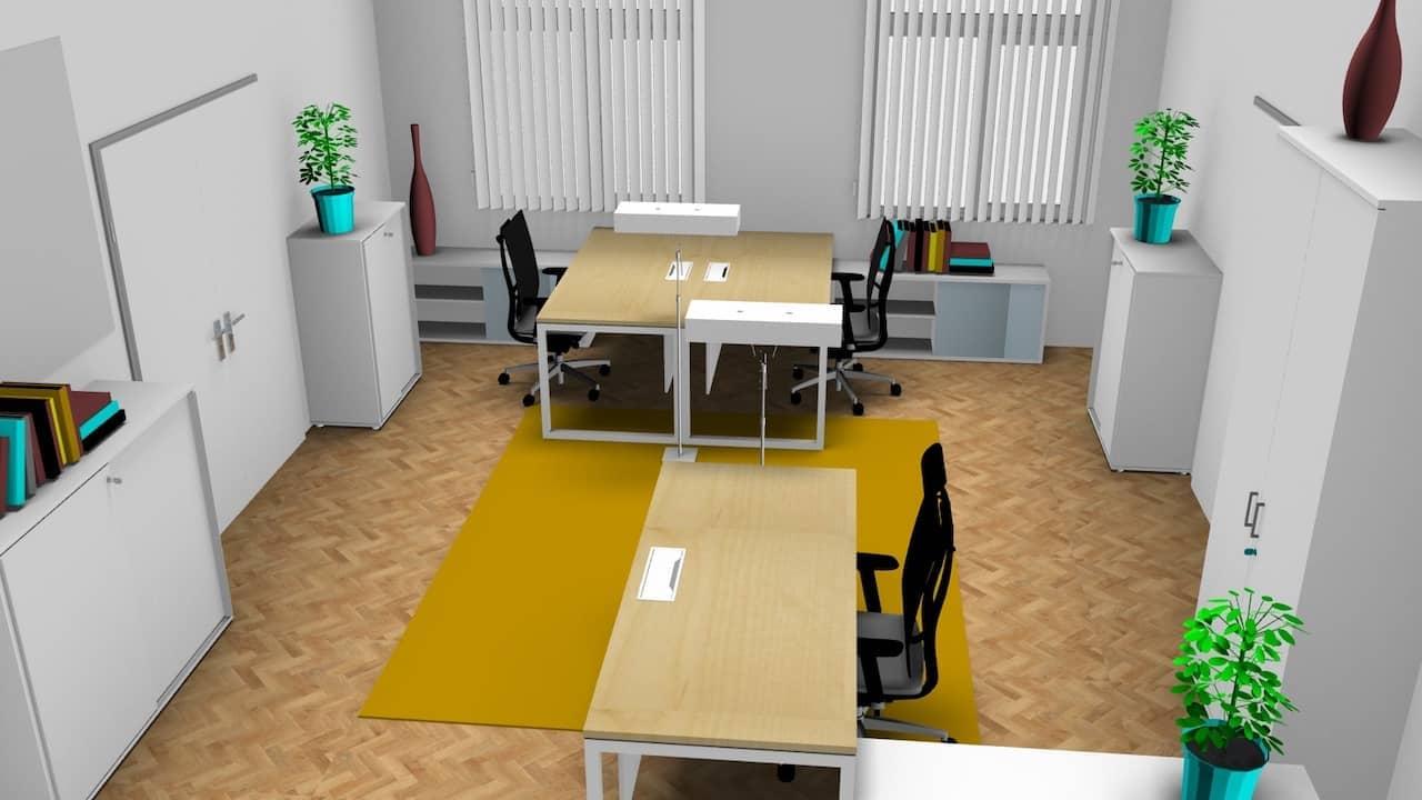 Bürokonzept für ein kleines Büro
