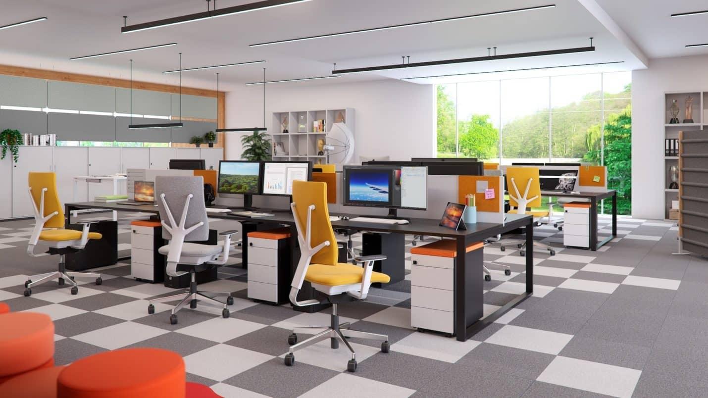 Büro mit Designermöbel